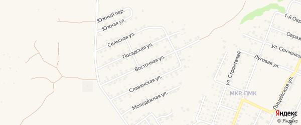Восточная улица на карте Трубчевска с номерами домов