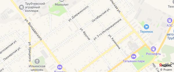Улица Фрунзе на карте Трубчевска с номерами домов