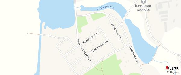 Брянская улица на карте села Новоселки с номерами домов