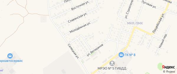 Переулок Ветеранов на карте Трубчевска с номерами домов