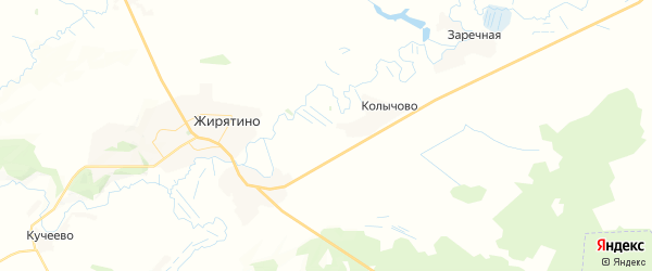 Карта территории Жирятинского сельского поселения Брянской области с районами, улицами и номерами домов