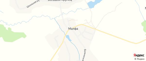 Карта села Малфы в Брянской области с улицами и номерами домов
