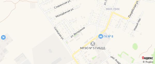 Улица Ветеранов на карте Трубчевска с номерами домов