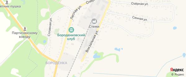 Вокзальная улица на карте Трубчевска с номерами домов