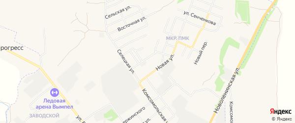 Территория Гаражный массив N13 на карте улицы Ветеранов с номерами домов