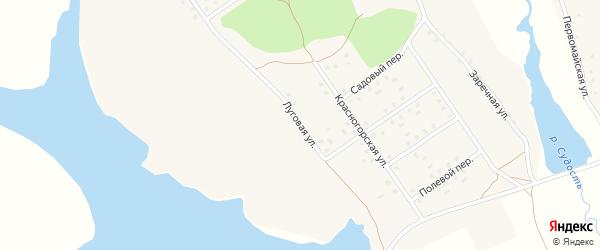 Луговая улица на карте села Новоселки с номерами домов