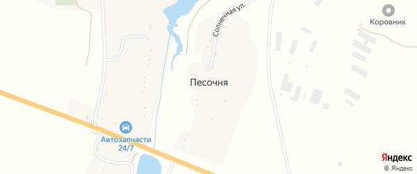 Приозерная улица на карте деревни Песочни с номерами домов