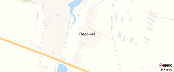 Заозерная улица на карте деревни Песочни с номерами домов