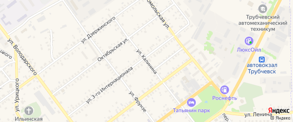 Улица Калинина на карте Трубчевска с номерами домов