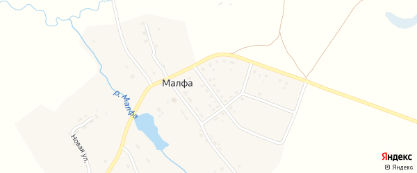 Молодежная улица на карте села Малфы с номерами домов
