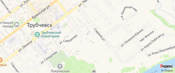 Улица Ров Володарского на карте Трубчевска с номерами домов