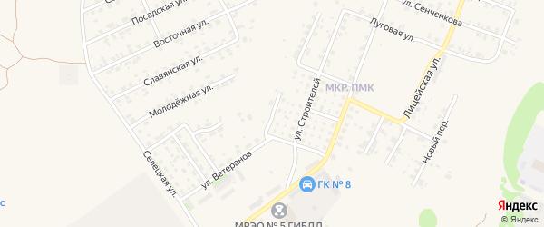 Строительный переулок на карте Трубчевска с номерами домов