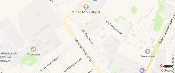 Улица Андреева на карте Трубчевска с номерами домов