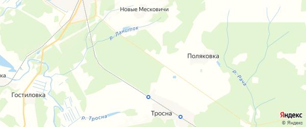 Карта территории Ходиловичского сельского поселения Брянской области с районами, улицами и номерами домов