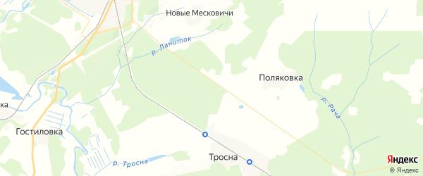 Карта территории Крыжинского сельского поселения Брянской области с районами, улицами и номерами домов