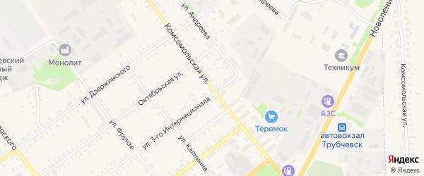 Комсомольская улица на карте Трубчевска с номерами домов