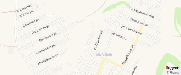 Переулок Строителей на карте Трубчевска с номерами домов