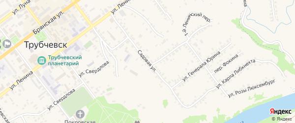 Садовая улица на карте Трубчевска с номерами домов