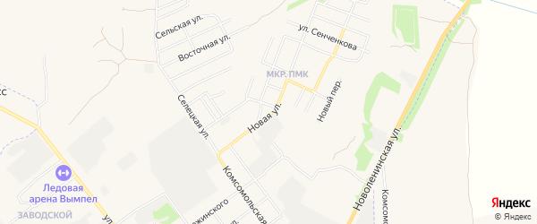 ГСК Гаражный массив N8 на карте Новой улицы с номерами домов
