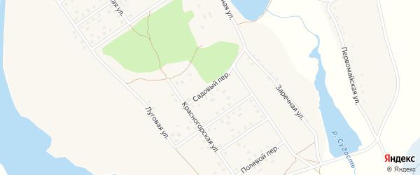 Садовый переулок на карте села Новоселки с номерами домов
