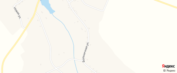 Больничная улица на карте села Малфы с номерами домов