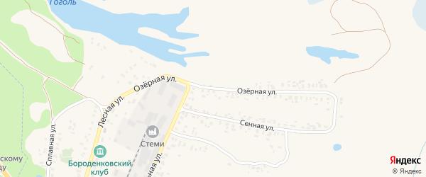 Озерная улица на карте Трубчевска с номерами домов