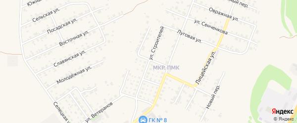 Улица Строителей на карте Трубчевска с номерами домов
