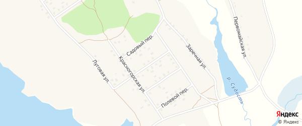 Красногорский переулок на карте села Новоселки с номерами домов