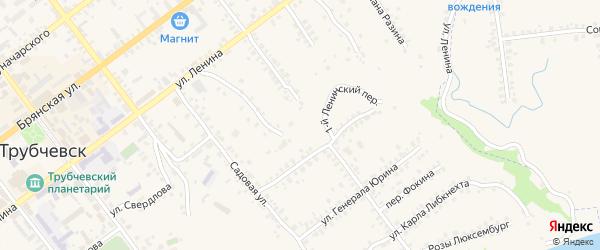 1-й Ленинский переулок на карте Трубчевска с номерами домов