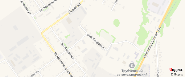 Переулок Андреева на карте Трубчевска с номерами домов