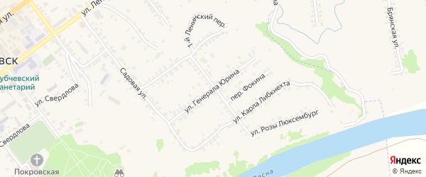Улица Генерала Юрина на карте Трубчевска с номерами домов