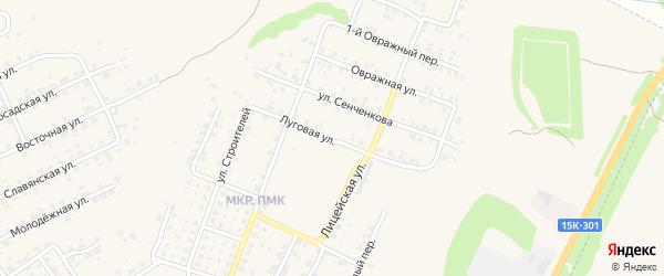 Луговая улица на карте Трубчевска с номерами домов