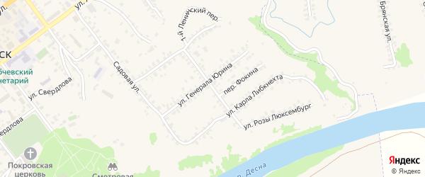 Улица Фокина на карте Трубчевска с номерами домов