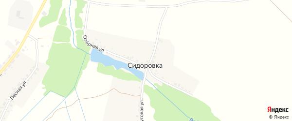 Луговая улица на карте деревни Сидоровки с номерами домов