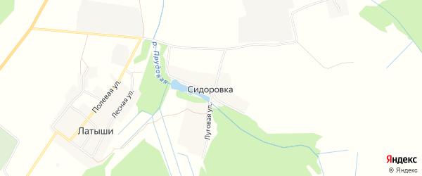 Карта деревни Сидоровки в Брянской области с улицами и номерами домов