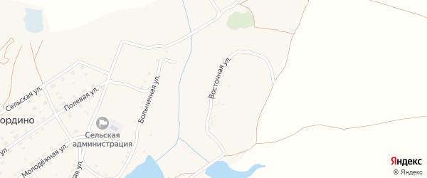 Восточная улица на карте деревни Шамордино с номерами домов