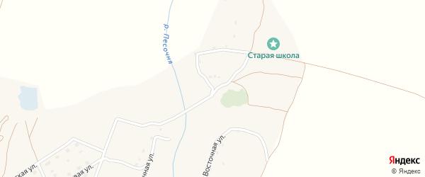 Школьная улица на карте деревни Шамордино с номерами домов