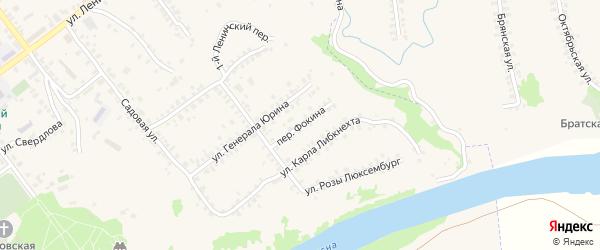 Переулок Фокина на карте Трубчевска с номерами домов