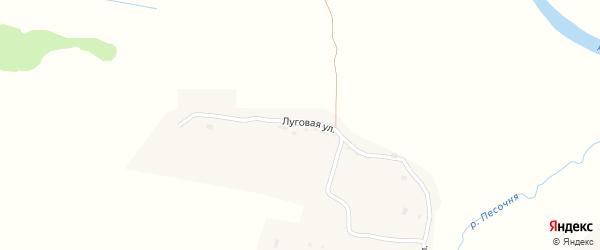 Луговая улица на карте села Дятьковичи с номерами домов