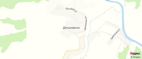 Карта села Дятьковичи в Брянской области с улицами и номерами домов