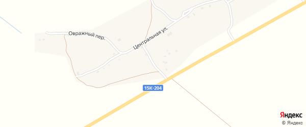 Молодежный переулок на карте деревни Колычово с номерами домов