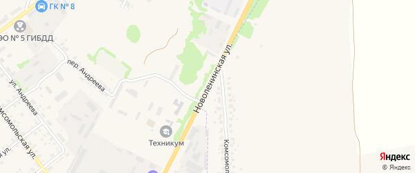 Новоленинская улица на карте Трубчевска с номерами домов