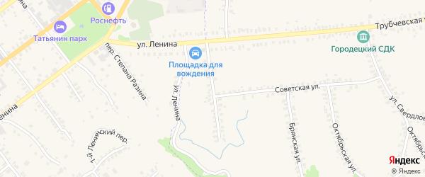 Партизанская улица на карте деревни Городцы с номерами домов