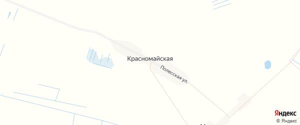 Карта Красномайской деревни в Брянской области с улицами и номерами домов