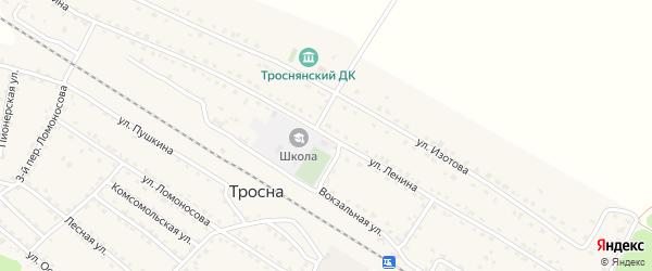 Улица Ленина на карте поселка Тросны с номерами домов