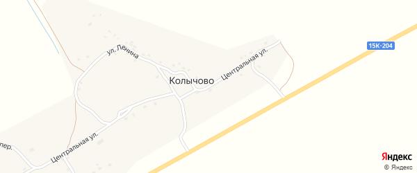 Центральная улица на карте деревни Колычово с номерами домов