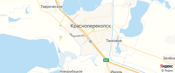 Карта Красноперекопска с районами, улицами и номерами домов