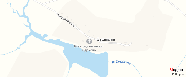 Набережная улица на карте села Барышьего с номерами домов