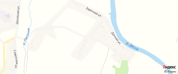 Заречная улица на карте села Дятьковичи с номерами домов