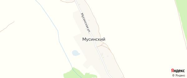Мусинская улица на карте Мусинского поселка с номерами домов
